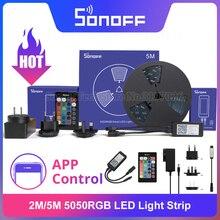 ITEAD SONOFF L1 2M/5M RGB LED Dây Mờ Chống Nước Nhiều Màu Sắc Flexiable Điều Khiển Từ Xa Thông Qua EWeLink hỗ Trợ Google Home