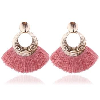 LATS 2020 Long Tassel Earrings for Women Big Fashion Statement Dangle Earring Bohemian Fringe Vintage Earring 4
