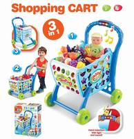 Children'S Educational Play House Toys Supermarket Shopping Cart Boys And Girls Light And Sound Sensing Shopping Cart