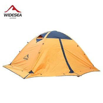 цена на Widesea camping tent tourist 2 person winter tent outdoor  4 season aluminum rod with snow skirt