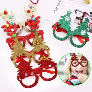 Fashion Plastic Glasses Frames Decor Christmas Glasses Frames Ornaments Evening Gift Party Supplies Cartoon Birthday Props