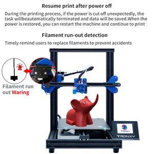 Image 3 - 2020 최신 풀 메탈 3D 프린터 Tronxy XY 2 프로 빠른 어셈블리 자기 열 종이 255*255mm hotbed 0.25KG PLA 필 라 멘 트 선물로