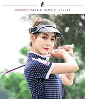 Top quality!Ladies Summer UV protection sun hat For Golf Sport Tennis Headband Cap Casual,Free shipping!