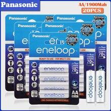 Panasonic – 20 batteries AA rechargeables 1.2V 1900mAh, préchargées, pour appareil photo, lampe de poche, jouet, télécommande, Ni-MH, originales