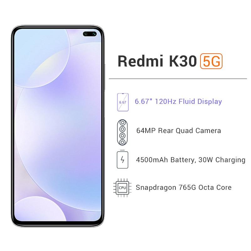 Ultimate SaleXiaomi Redmi K30 5G 6GB 64GB GSM/LTE/WCDMA Adaptive Fast Charge Octa Core Fingerprint Recognition