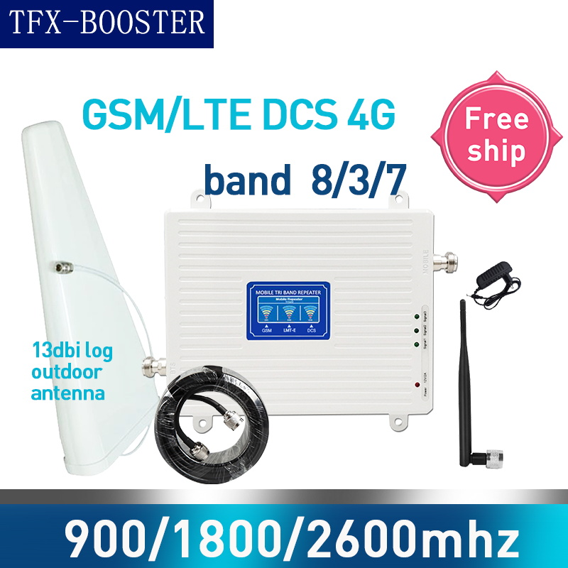 TFX-BOOSTER Booster Amplifier 4g 900 1800 2600 GSM DCS LTE 2G 3G 4G Tri-Band Cellular Signal Repeater GSM Mobile Signal Booster