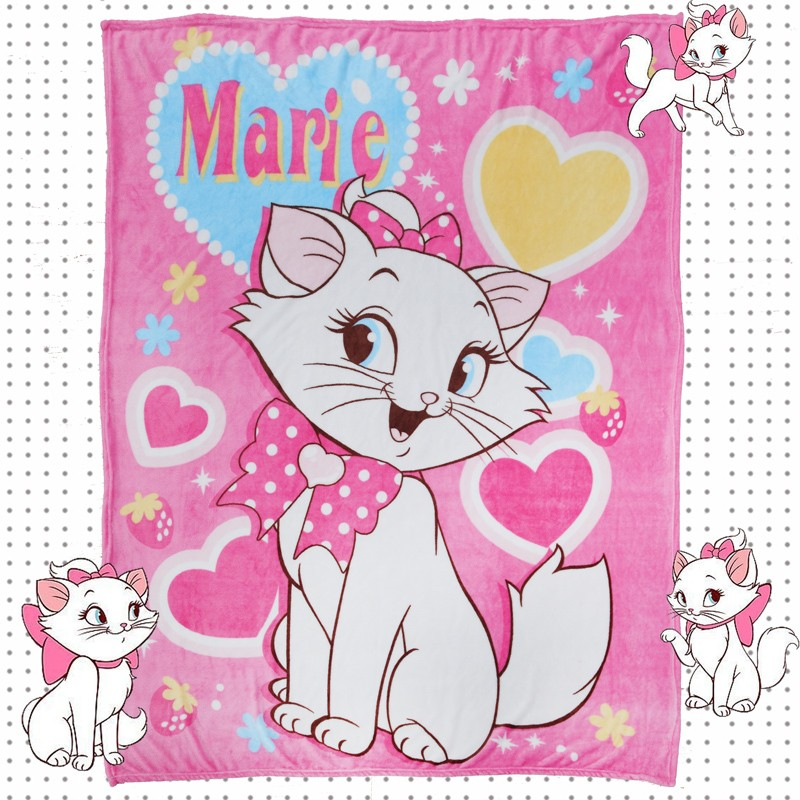 Cartoon-Marie-Cat-Coral-Fuzzy-Blankets-on-Bed-Couch-Air-condition-Sleep-Cover-Bedding-Thorws-Bedsheet