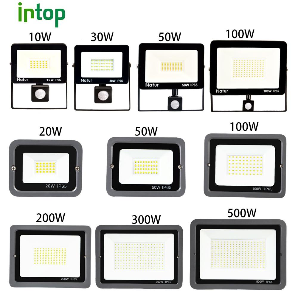 Led Floodlight PIR Motion Sensor Led Flood Light 10W 20W 30W 50W 100W 150W 200W 300W500W light outdoor waterproof IP66 Spotlight
