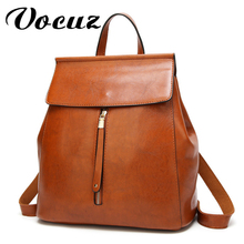 VOCUZ bags women backpack leather shoulder female new casual bag wild simple lady fashion retro 2020