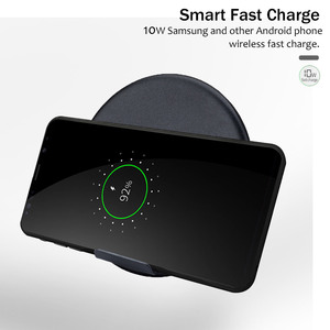 Image 2 - 10W Fast Wireless Charger For Samsung Galaxy S9 S9+ S8 S7 Note 9 S7 Edge USB Qi Charging Pad for iPhone XS Max XR X 8 Plus