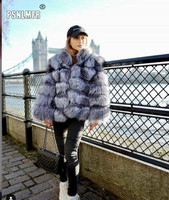 Discounts Sale Stylish Basic Chic Natural Real Silver Fox Fur Womens Clothing Warm Loose Baggy Supernatural Simple Winter Jacket