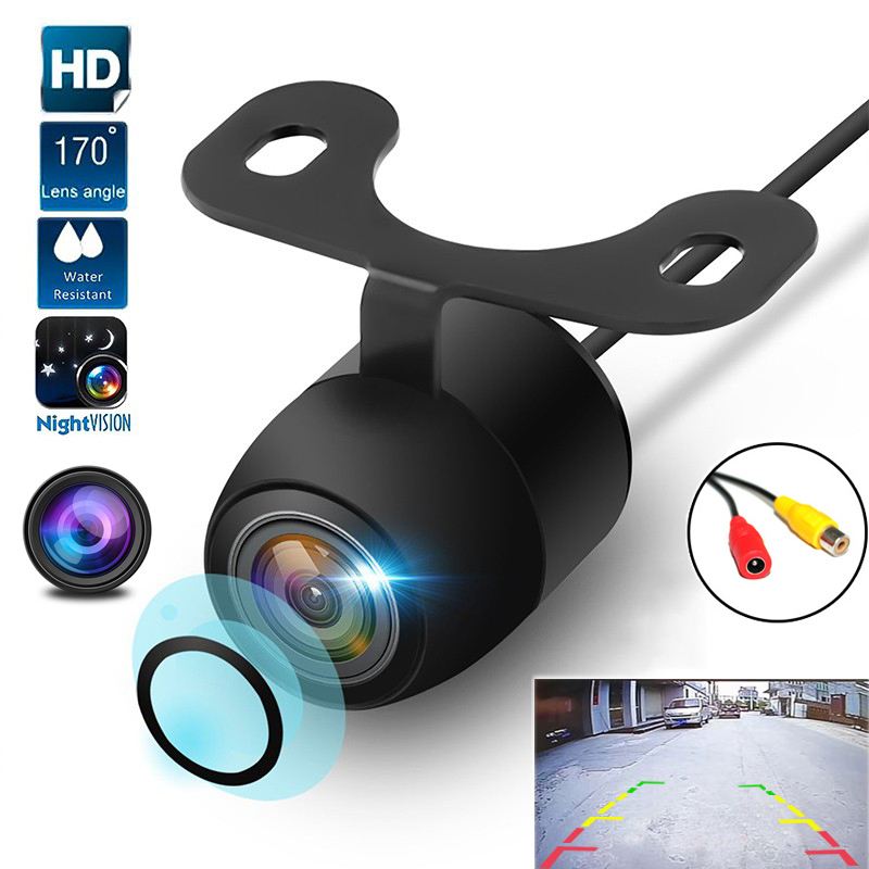 170 ° Car Rear View Camera Universal LED Night Vision Backup Parking Reverse Camera Waterproof 170 Wide Angle HD Color Image