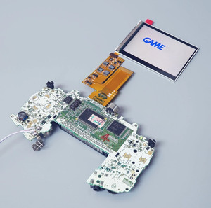 Image 5 - ل GBA IPS V2 4 بكسل في 1 عرض كامل LCD أطقم الخلفية ل GAMEBOY مسبقا استبدال 10 مستويات من شاشة السطوع