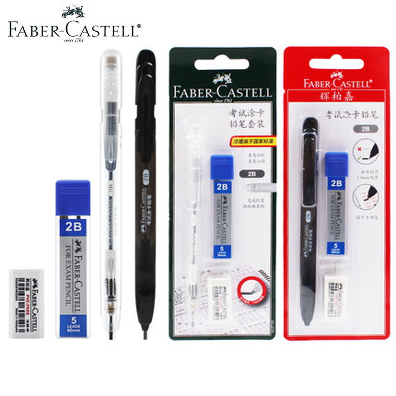 Faber Castell 1327 2B Mechanical Pencil Eraser Lead Refills Set Stationery School Office Supplies Pencil for Exam/Test Card image