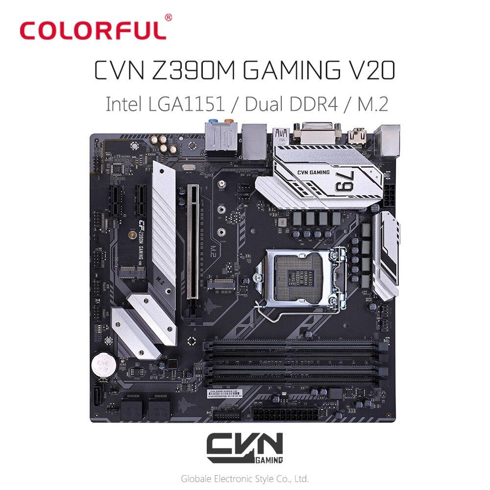 Colorful CVN Z390M GAMING V20 Motherboard M - ATX LGA1151 Interface Dual Channel DDR4 Gigabit LAN 5 X SATA 3.0 With M.2 Slot