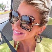 Солнцезащитные очки оверсайз женские роскошные брендовые градиентные