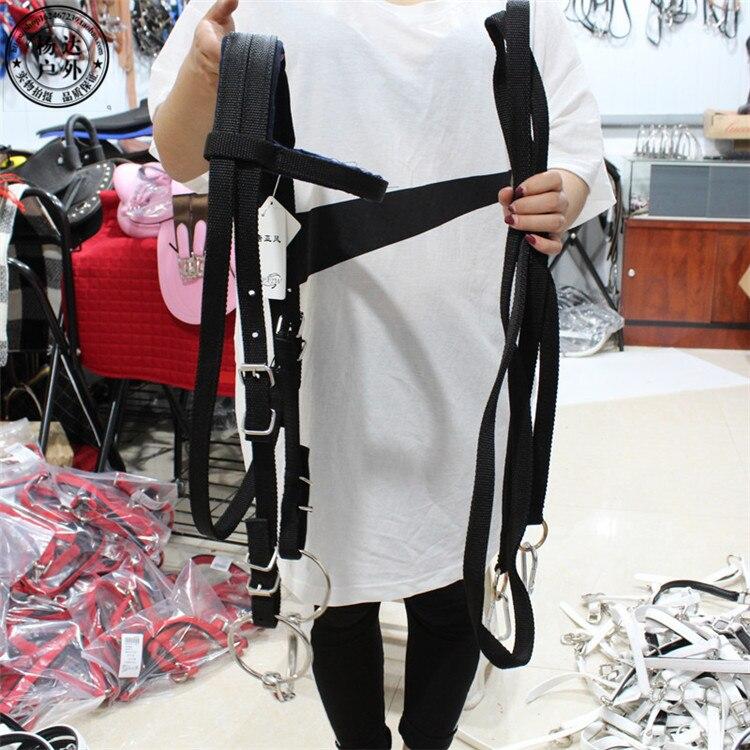 Horse Rope Halter Headcollar Equestrian Equipment Adjustable Horse Riding Bridle Safety Head Collar Horseback Strap Accessories 4