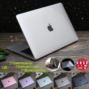 Cristal dur étui pour ordinateur portable pour MacBook Pro 16 A2141 2019 Touch ID A1932 A2179 couverture pour Macbook Air 13 A1466 Pro Retina 12 11 15 1