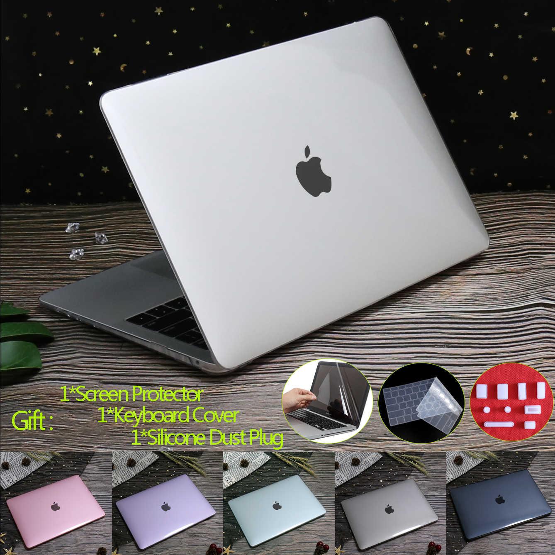 קריסטל קשיח מחשב נייד מקרה עבור MacBook Pro 16 A2141 2019 מגע מזהה A1932 A2179 כיסוי עבור Macbook Air 13 A1466 פרו רשתית 12 11 15