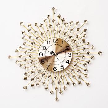 Flower Clock Creative Simple Wall Clock Home Furnishing Iron Wall Clock Personality Creative Silent Quartz Clock