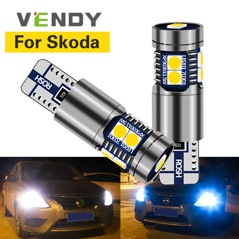 1pcs For <font><b>Skoda</b></font> Superb <font><b>Octavia</b></font> A7 A 5 2 Fabia Rapid Yeti Car <font><b>LED</b></font> Clearance Lights W5W T10 194 2825 Bulb Canbus Auto Side Lamp image