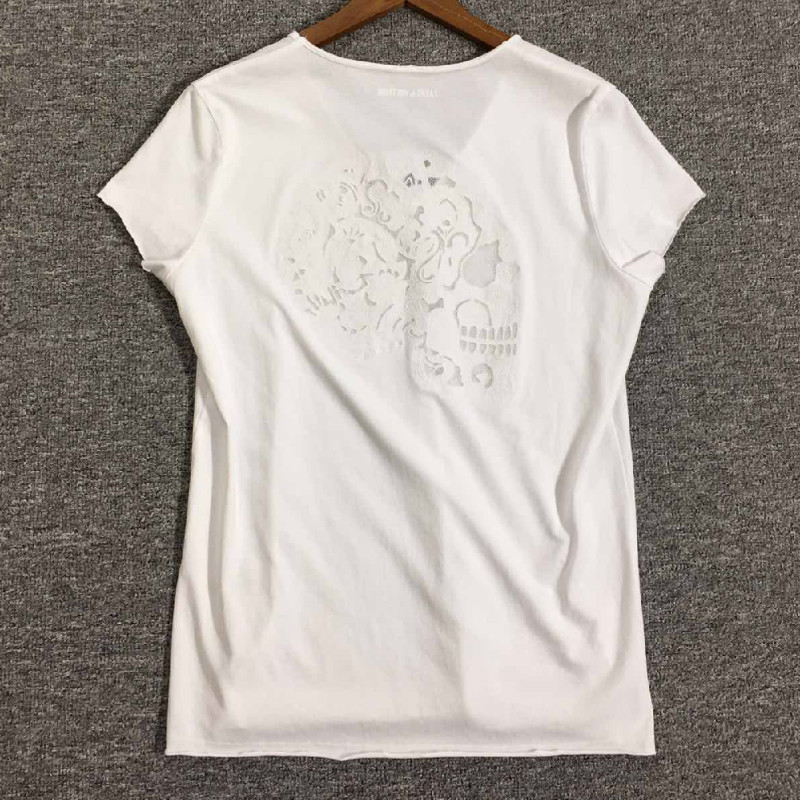 Women T-shirt Skull T-shirt With Back