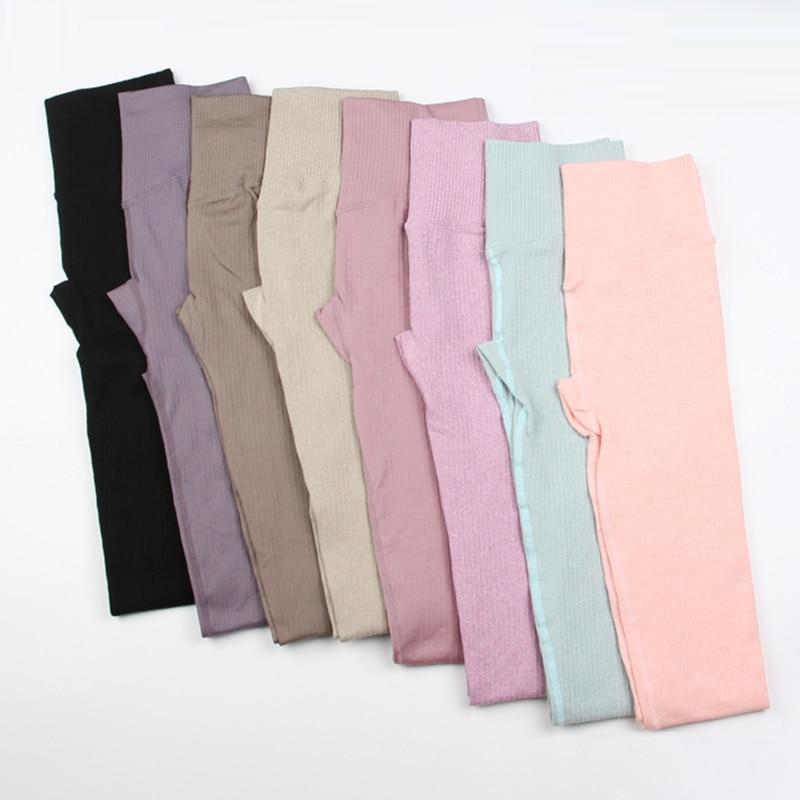 New Yoga Pants Sports Clothing Seamless Legging Solid High Waist Full Length Workout Leggings for Fittness Yoga Leggings|Yoga Pants| - AliExpress