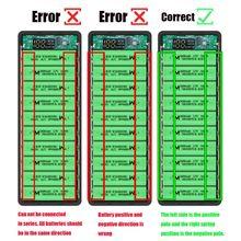 Lcd ekran DIY 10x18650 pil kutusu güç banka kabuk şarj cihazı aksesuarları