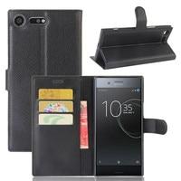 Funda trasera de cuero PU para Sony Xperia XZ Premium, carcasa de 5,46 pulgadas para teléfono Sony Xperia XZ Premium G8141 G8142