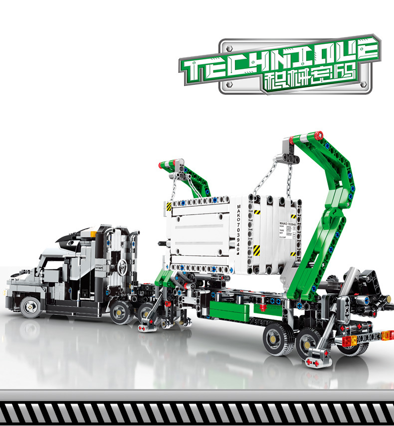 Technic Car Toys Compatible With Lepining mini 42078 Mack Big Truck Car Model Building Block Bricks Toys For Kids Christmas Gift 2