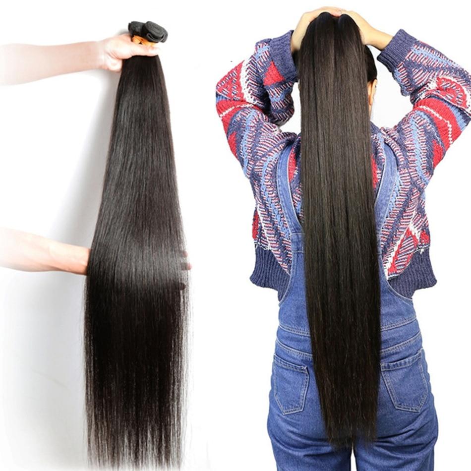 28 30 36 40 дюймовые индийские волосы пучки прямых и волнистых волос 100% натуральные человеческие волосы 1 3 4 Связки двойной уток толстые Волосы ...