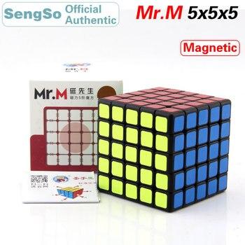 ShengShou Mr.M 5x5x5 Magnetic Magic Cube SengSo 5x5 Magnets Speed Puzzle Antistress Educational Toys For Children new arrival of shengshou mastermorphix 5x5x5 cube rice dumpling stickerless magic cube speed puzzle cube toys