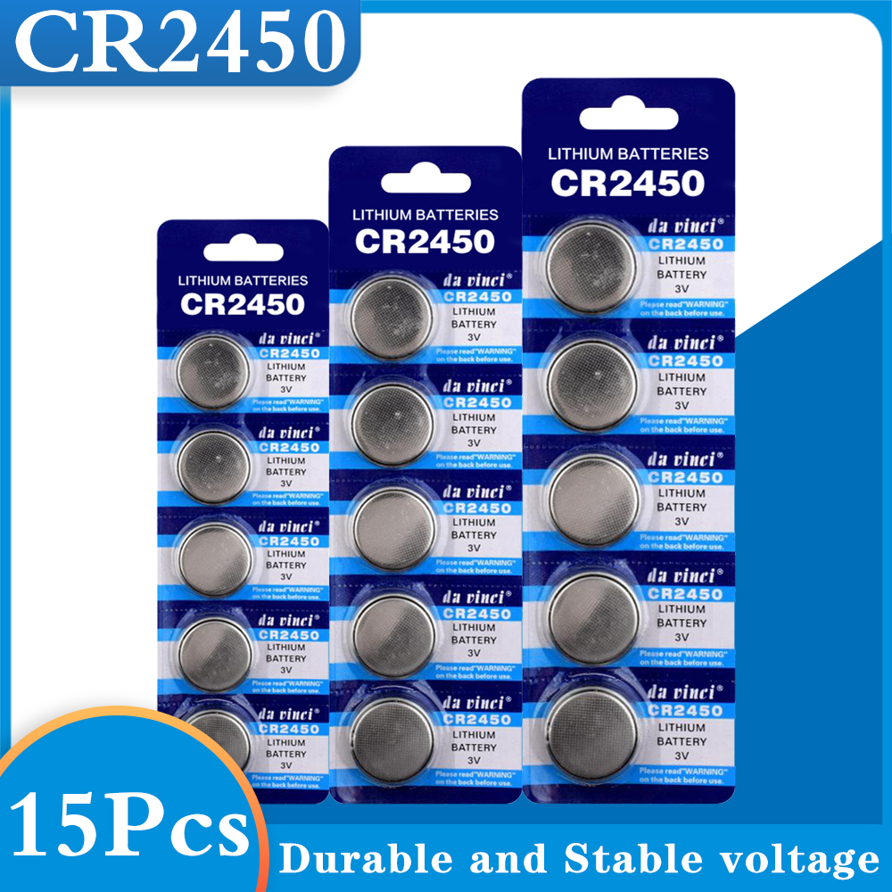 Кнопочные батареи CR2450 KCR2450 5029LC LM2450, литиевая батарея с монетницей, 3 в, CR 2450 для часов, электронных игрушек, пультов дистанционного управления...