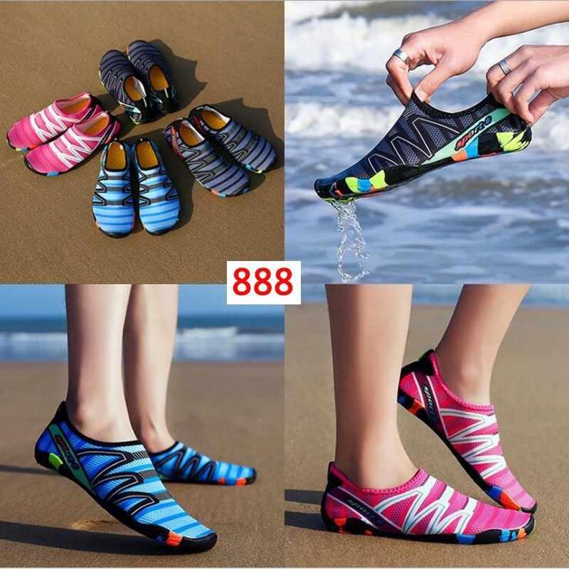 Hafif Aqua ayakkabı erkekler kadınlar Slip-on Sneakers hızlı kuru yüzme ayakkabı Unisex açık nefes Upstream plaj ayakkabısı