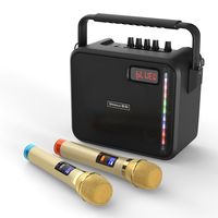 Shinco Bluetooth Wireless Speaker Portable Karaoke PA Speakers with 2 Wireless UHF Microphone and Remote Control Support AUX