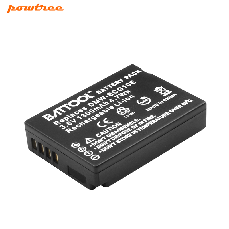 BATTOOL 1  Camera Battery for Panasonic Lumix DMW-BCG10 DMW BCG10 BCG10E DMC-3D1 DMC-TZ7 DMC-TZ8 DMC-TZ10 DMC-TZ18 DMCTZ19
