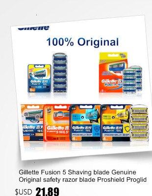 Gillette fusão proglide lâminas de barbear segurança