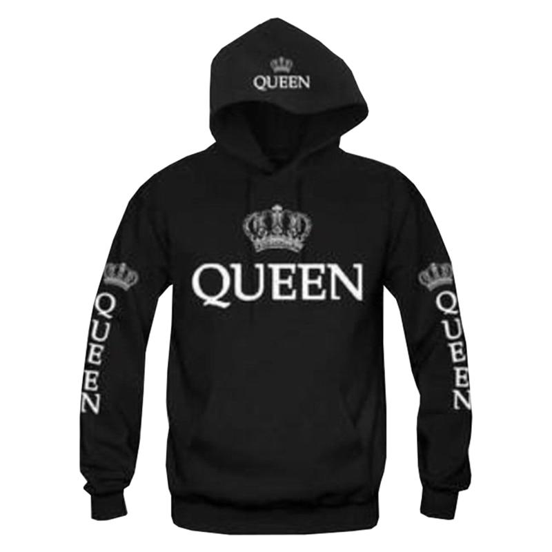 King And Queen Couple Matching Hoodie Sweatshirt Golden Crowns 7