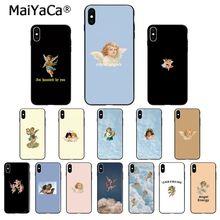 MaiYaCa renacentista ángeles Cupido lindo TPU suave de alta calidad funda de teléfono para Apple iPhone 8 7 6 6S Plus X XS X MAX 5 5S SE XR cubierta