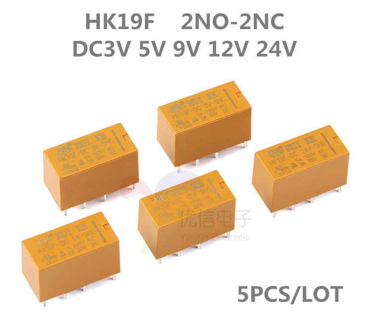 1PCS NEW HUIKE HK19F-DC5V-SHG Power Relay DC 5V 8 Pins 8-Pin 2A US Stock