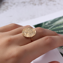 Retro Queen Elizabeth Round Open Ring Gold Copper Face Peace Dollar Coin Open Ring For Women Jewelry Dropshipping elizabeth bliss a tripartite effort toward islamic peace dialogue