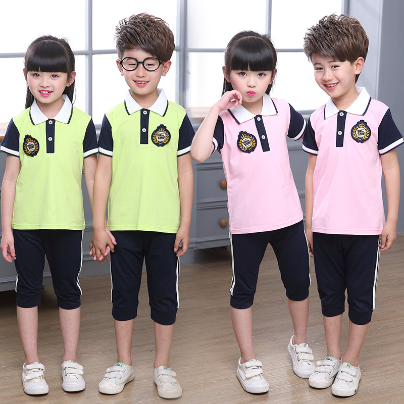 New Style Kindergarten Suit Summer Men And Women Children Business Attire Sports Set British Style Young STUDENT'S School Unifor