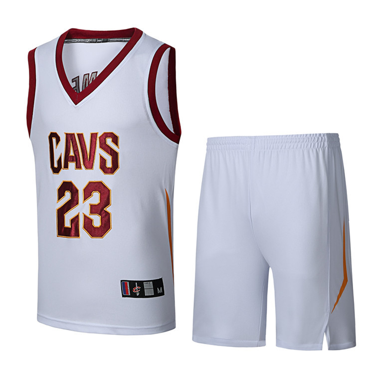 2018 New Style Cleveland Cavaliers 23 James Basketball Clothes Suit Embroidered Jersey