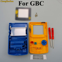 ChengHaoRan 1set Yellow Blue Shell case Replacement For Gameboy Color GBC game console full housing