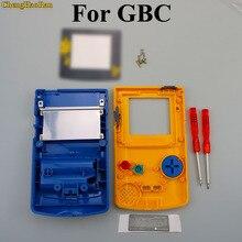 Chenghaoran 1 conjunto amarelo azul caso escudo substituição para gameboy cor gbc game console habitação completa