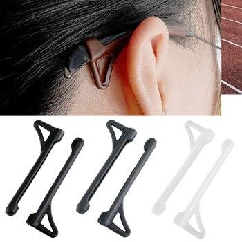 1 par de gafas de sol gafas de gafas pierna cubierta antideslizante de silicona gancho de oreja sien, soporte, extremo gancho gafas Accesorios