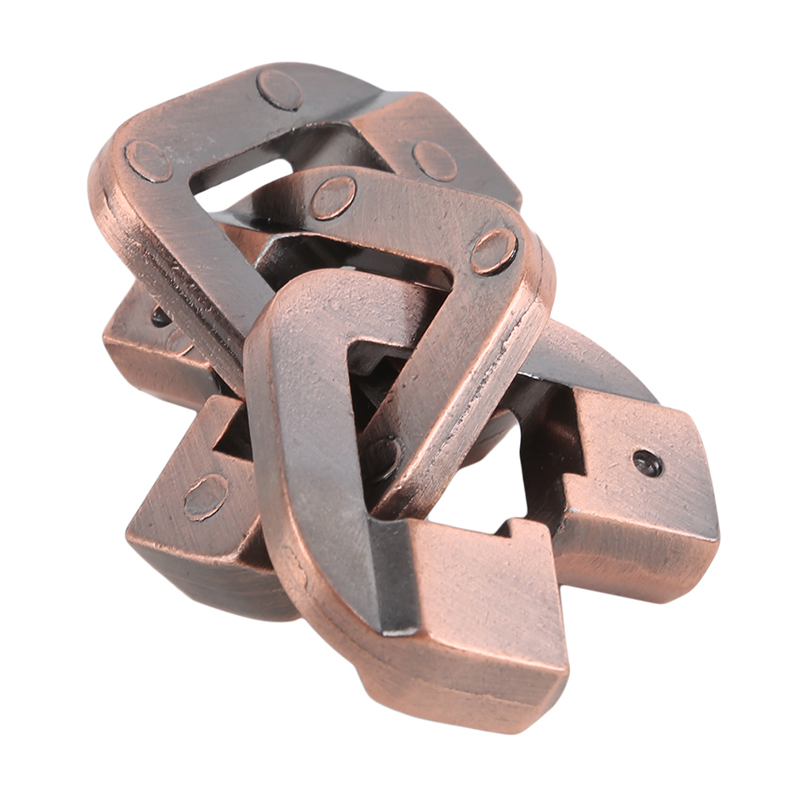 Creative Vintage Metal  Magic Lock Toy Intelligence Game Toy Gift For Children Adult Toys