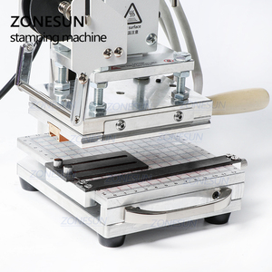 Image 3 - ZONESUN Hot Foil Stamping Machine For Customs logo Slideable Workbench  Leather Embossing Bronzing Tool for Wood PVC DIY Initial