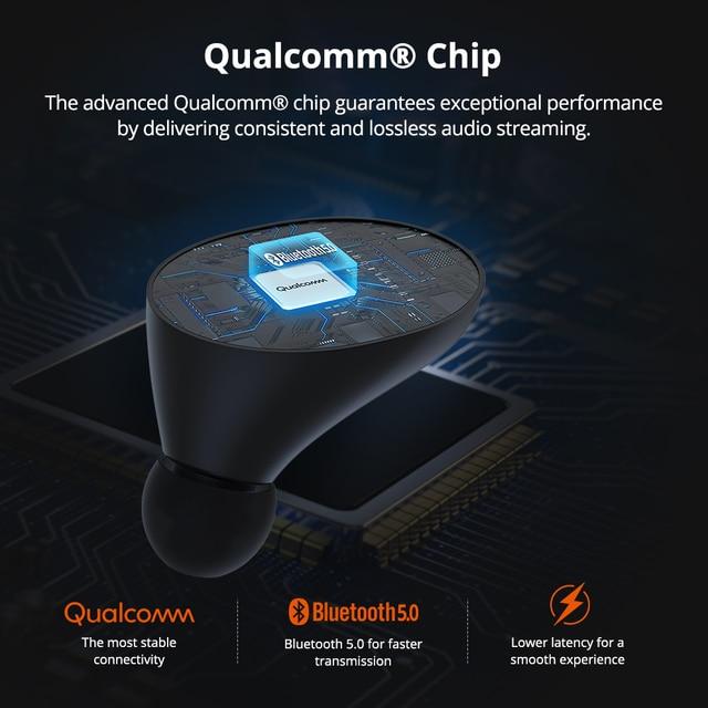 [Più nuovo] Tronsmart Spunky Battere Bluetooth TWS Auricolare APTX Auricolari Senza Fili con QualcommChip, CVC 8.0, touch Control 2