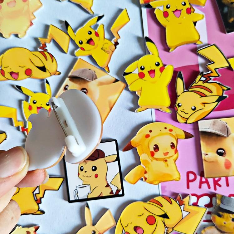1PCS MIX Pokemon Acrylic Badges Cartoon Icons On The Pin Kawaii Icon Badge Bacges On Backpack Badges For Clothing